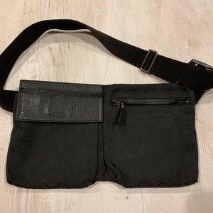 GUCCI DOUBLE POUCH BELT BAG